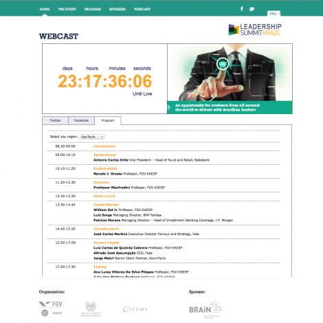 Webcast - Leadership Summit Brazil