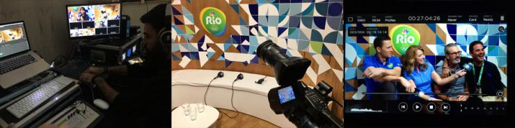 Webcast facebook USA voor NBC in Rio de Janeiro