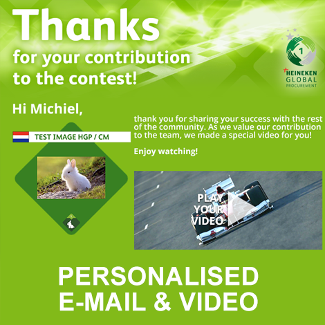 Gepersonaliseerde video en e-mail
