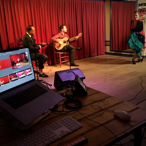 Tapas Café Duende Flamenco concert online